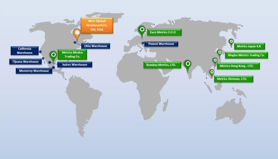 MESのグローバル拠点